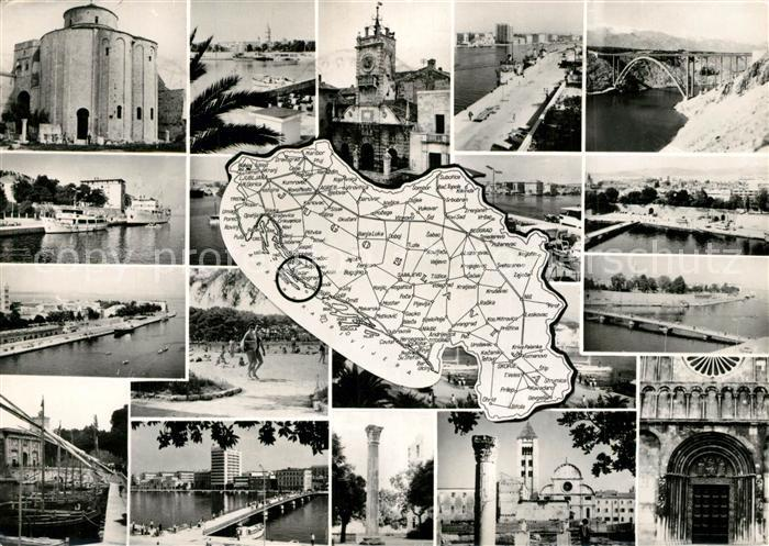 AK / Ansichtskarte Zadar_Zadra_Zara Orts und Teilansichten Zadar_Zadra_Zara
