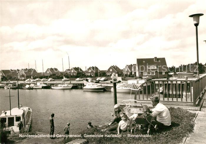 AK / Ansichtskarte Carolinensiel Harlesiel_Ostfriesland Binnenhafen Carolinensiel Harlesiel