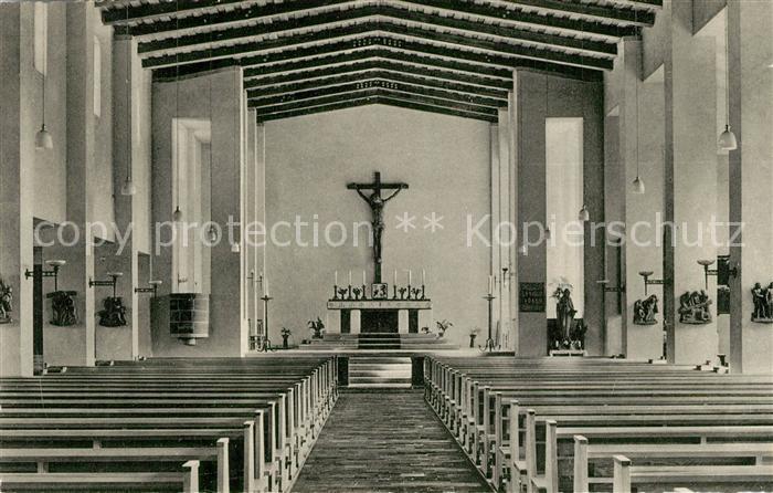 AK / Ansichtskarte Butzbach Katholische Kirche Innenansicht Butzbach
