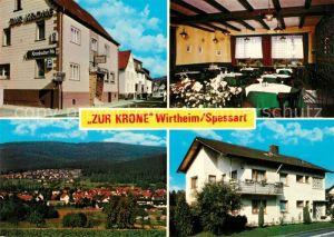 AK / Ansichtskarte Wirtheim Restaurant Hotel Zur Krone Pension Wirtheim
