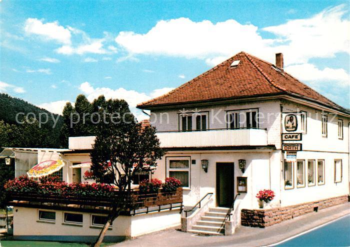 AK / Ansichtskarte Zell_Odenwald Cafe Orth Restaurant Zell Odenwald