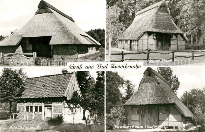AK / Ansichtskarte Bad_Zwischenahn Dwersack Heuer Haus Alte Schmiede Einraumhaus Toepferei Bad_Zwischenahn