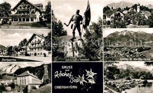 AK / Ansichtskarte Kochel_See Hotel Schmied Dorfmotiv Schmied von Kochel Walchenseewerk Zeltplatz Kochel_See