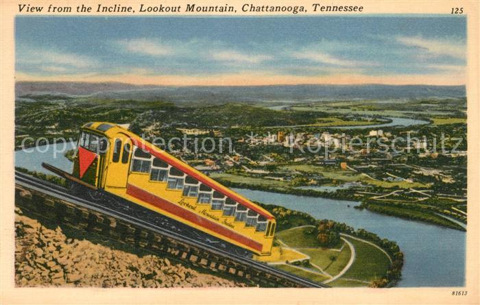 AK / Ansichtskarte Zahnradbahn Incline Lookout Mountain Chattanooga Tennessee