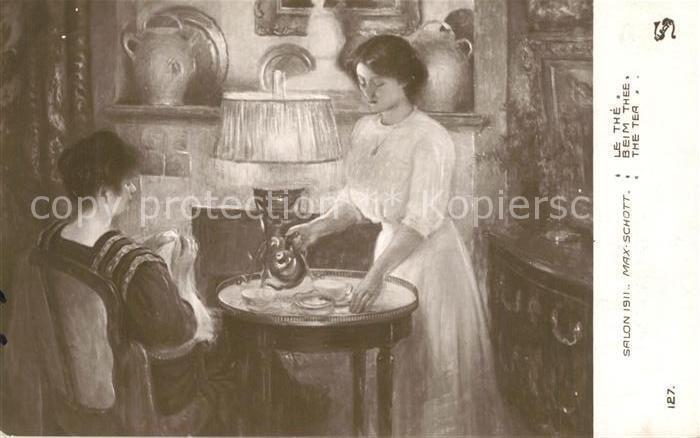 AK / Ansichtskarte Kuenstlerkarte Max Schott Le The Verlag Salon 1911 Nr. 127
