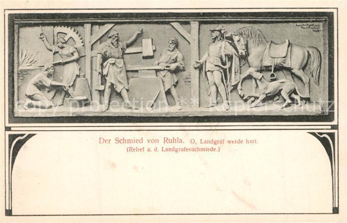 AK / Ansichtskarte Schmied Der Schmied von Ruhla O. Landgraf  Schmied