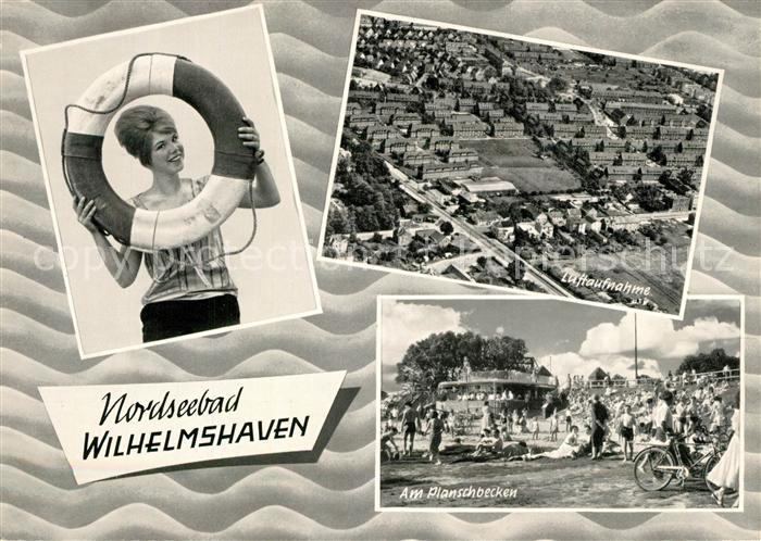 AK / Ansichtskarte Wilhelmshaven Fliegeraufnahme Planschbecken Wilhelmshaven
