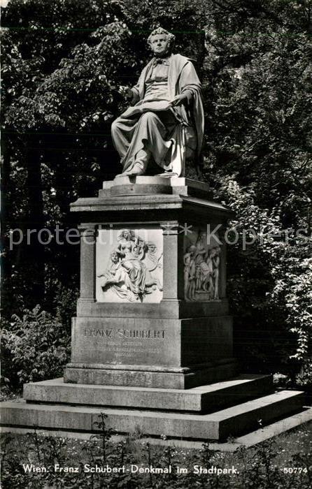 AK / Ansichtskarte Wien Franz Schubert Denkmal im Stadtpark Wien