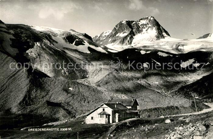 AK / Ansichtskarte Dresdnerhuette Berghuette Stubaier Alpen Dresdnerhuette