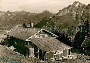 AK / Ansichtskarte Brannenburg Breitenberghuette Alpenpanorama Brannenburg