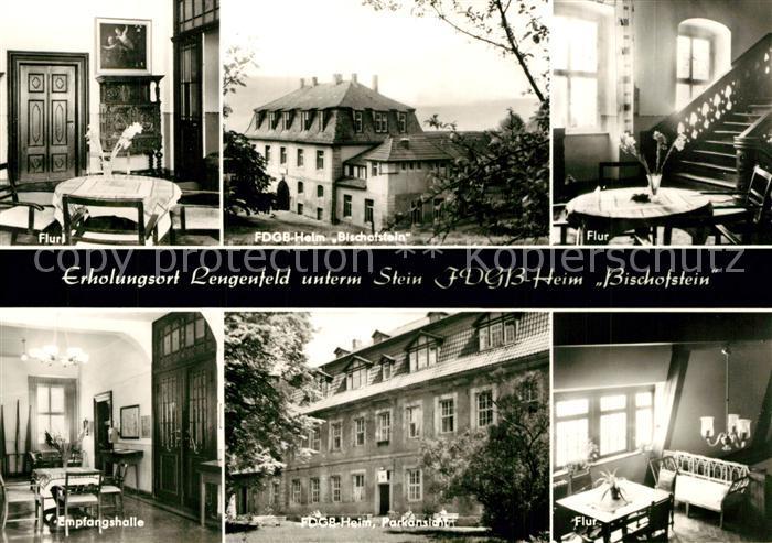 AK / Ansichtskarte Lengenfeld_Stein FDGB Heim Bischofstein