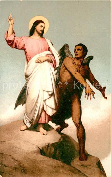AK / Ansichtskarte Kuenstlerkarte Ary Scheffer Tentation de Jesus Christ
