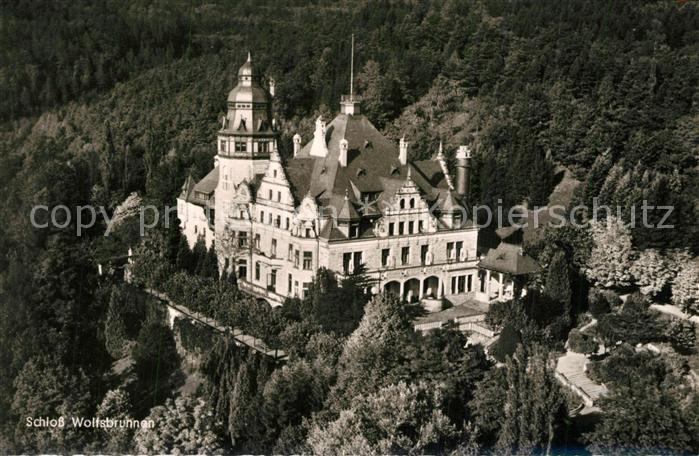 AK / Ansichtskarte Meinhard Schloss Wolfsbrunnen Fliegeraufnahme Meinhard 0