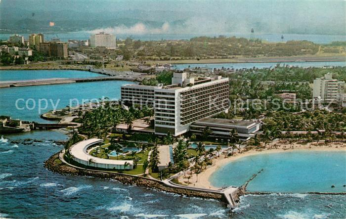 AK / Ansichtskarte San_Juan_Puerto_Rico Caribe Hilton Hotel aerial view San_Juan_Puerto_Rico