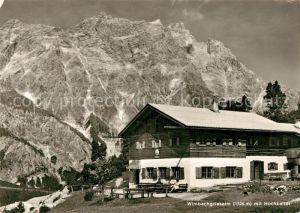 AK / Ansichtskarte Ramsau_Berchtesgaden Wimbachgriesalm mit Hochkalter Berchtesgadener Alpen Ramsau Berchtesgaden