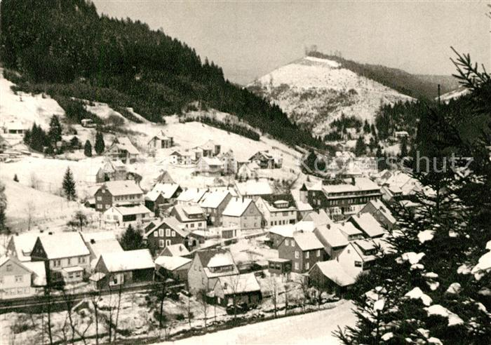 AK / Ansichtskarte Sieber Panorama Gebirgskurort im Winter Sieber