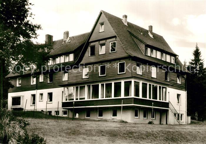 AK / Ansichtskarte Hahnenklee Bockswiese_Harz Ev Muettergenesungsheim Haus Tannenhof Hahnenklee Bockswiese