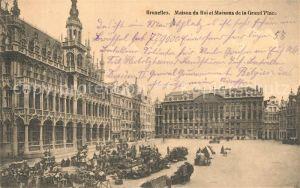 AK / Ansichtskarte Bruxelles_Bruessel Maison du Roi et Maisons de la Grand Place Bruxelles_Bruessel