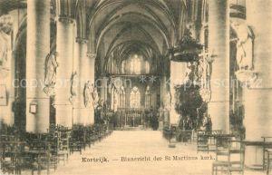 AK / Ansichtskarte Kortrijk_West Vlaanderen St. Martinus Kerk Kortrijk_West Vlaanderen