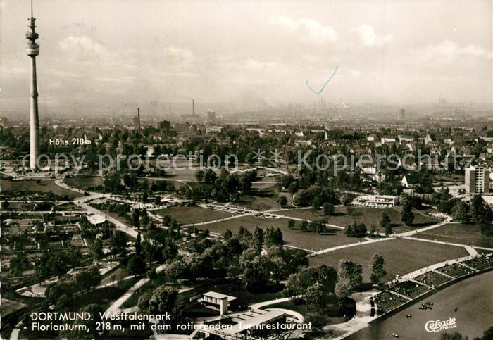 AK / Ansichtskarte Dortmund Westfalenpark Florianturm Fliegeraufnahme Dortmund 0
