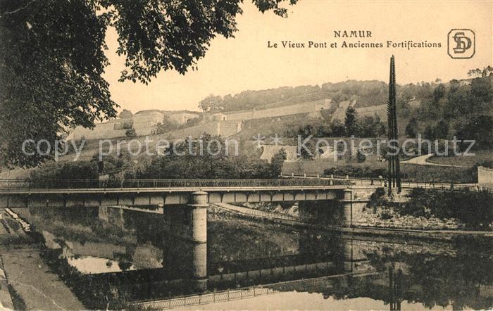 AK / Ansichtskarte Namur_Wallonie Pont et Anciennes Fortifications Namur Wallonie