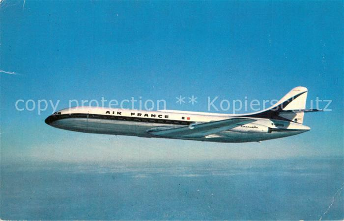 AK / Ansichtskarte Flugzeuge_Zivil Air France Caravelle