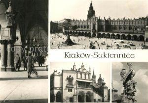 AK / Ansichtskarte Krakow_Krakau Sukiennice Arkady Loggia Padovana Tuchhallen Arkaden Krakow Krakau