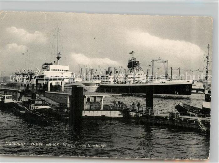 AK / Ansichtskarte Hamburg Hafen mit MS Wappen von Hamburg Hamburg