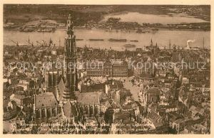 AK / Ansichtskarte Anvers_Antwerpen Cathedrale Grand Place Escaut Rive gauche vue aerienne Anvers Antwerpen