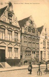 AK / Ansichtskarte Ypres_Ypern_West_Vlaanderen Marche au Betail Maisons des Corporations Ypres_Ypern