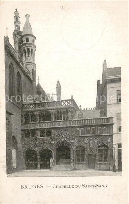 AK / Ansichtskarte Bruges_Flandre Chapelle du Saint Sang Bruges_Flandre