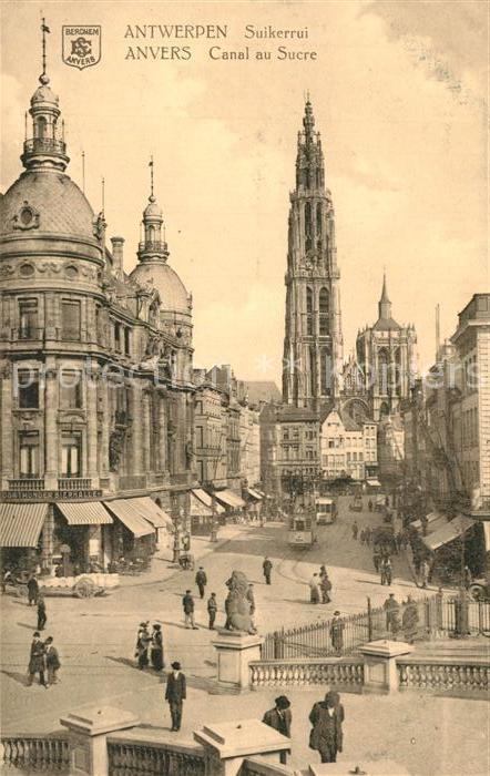 AK / Ansichtskarte Anvers_Antwerpen Canal au Sucre Strassenbahn Anvers Antwerpen