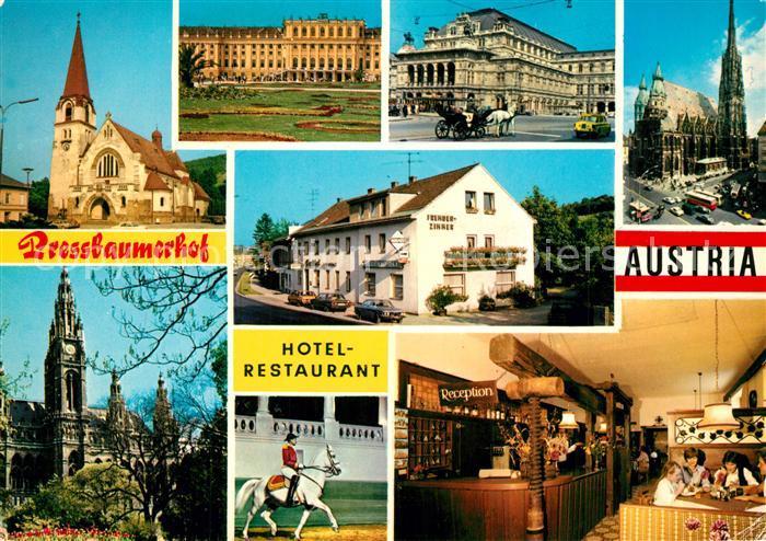 AK / Ansichtskarte Pressbaum_Niederoesterreich Hotel Restaurant Pressbaumerhof Pressbaum