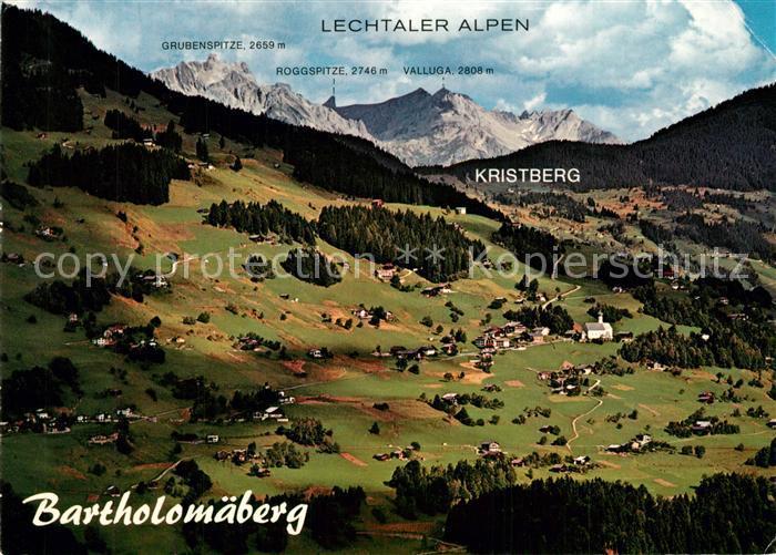 AK / Ansichtskarte Bartholomaeberg_Vorarlberg Fliegeraufnahme Lechtaler Alpen Bartholomaeberg Vorarlberg