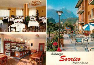 AK / Ansichtskarte Toscolano Albergo Sorriso Gastraum Theke Terrasse Toscolano