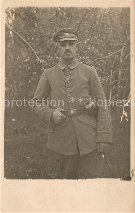 AK / Ansichtskarte Militaria_WK1 Uniform Guertelschnalle Militaria WK1