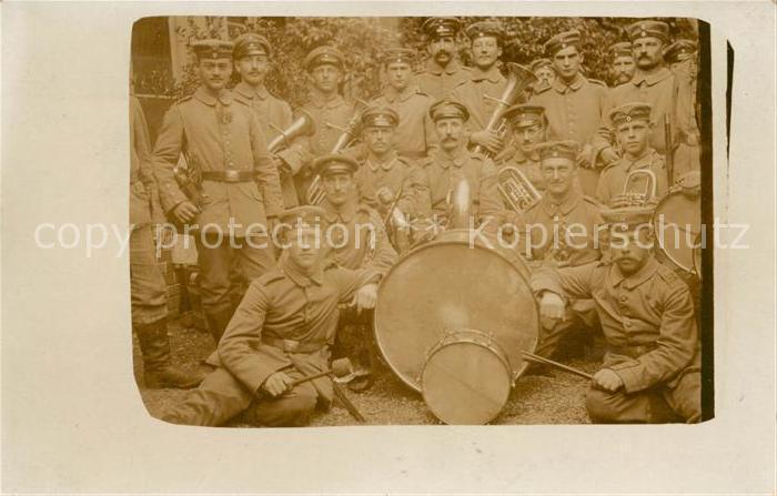 AK / Ansichtskarte Militaria_Musik Trommel Trompete WK1 Militaria Musik