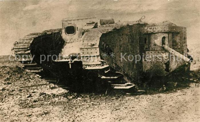 AK / Ansichtskarte Militaria_Deutschland_WK1 Panzer Tank