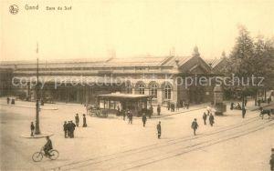 AK / Ansichtskarte Gand_Belgien Gare du Sud Bahnhof Gand Belgien