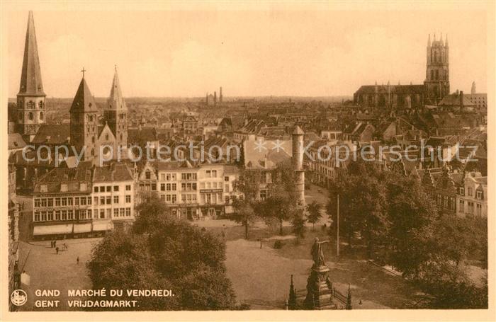 AK / Ansichtskarte Gand_Belgien Marche d Vendredi Monument Eglise Gand Belgien