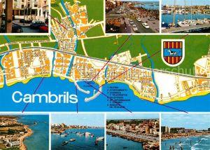 AK / Ansichtskarte Cambrils Teilansichten Hafen Strand Promenade Cambrils