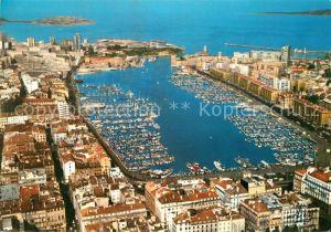 AK / Ansichtskarte Marseille_Bouches du Rhone Vue generale aerienne du Vieux Port Marseille