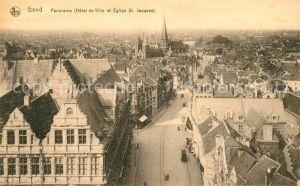 AK / Ansichtskarte Gand_Belgien Panorama de la ville Hotel de Ville Eglise Saint Jacques Gand Belgien