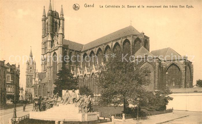 AK / Ansichtskarte Gand_Belgien Cathedrale Saint Bavon Monument des Freres Van Eyck Gand Belgien