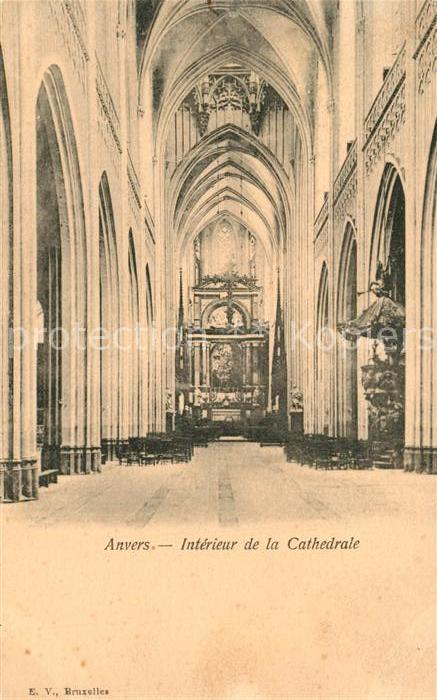 AK / Ansichtskarte Anvers_Antwerpen Interieur de la Cathedrale Anvers Antwerpen