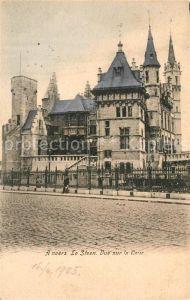AK / Ansichtskarte Anvers_Antwerpen Musee du Steen vue sur la Cour Anvers Antwerpen