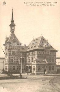 AK / Ansichtskarte Gand_Belgien Exposition Universelle de Gand Pavillon de la Ville de Liege Gand Belgien