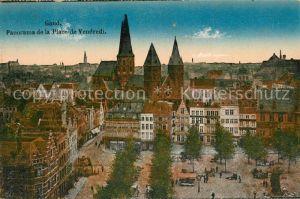 AK / Ansichtskarte Gand_Belgien Panorama de la Place de Vendredi Gand Belgien