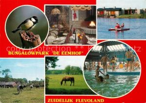 AK / Ansichtskarte Zuidelijk Flevoland De Eemhof Bungalowpark Details Hallenbad