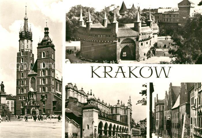 AK / Ansichtskarte Krakow_Krakau Barbakan Suklennice Collegium Malus Krakow Krakau